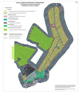 Карта градостроительного зонирования д.Бакули Растр СКС