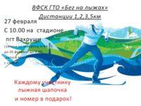 ВФСК  ГТО»Бег на лыжах»